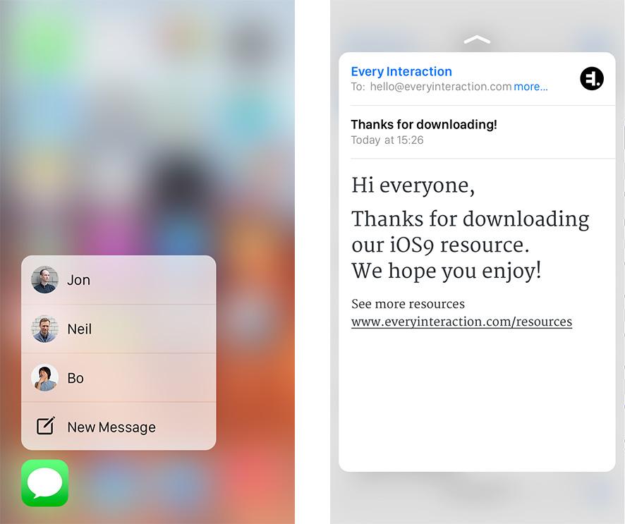 iOS9 GUI PSD Apple iPhone 6s