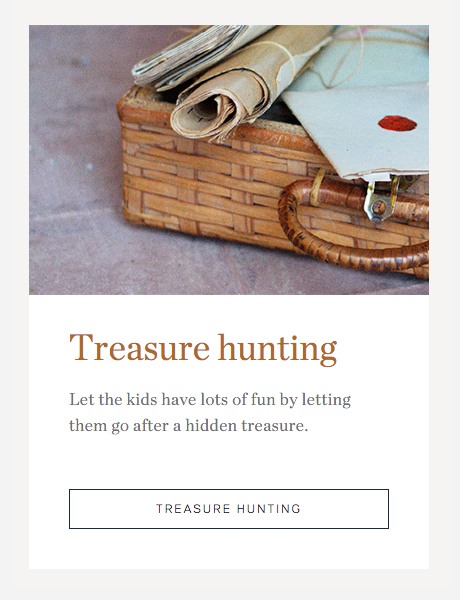 Barrocal Treasure Hunting Content Box