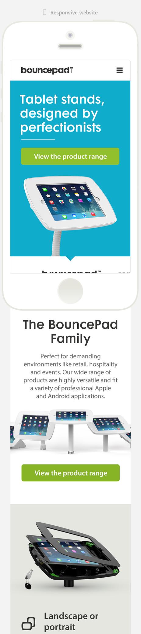 Bouncepad responsive website