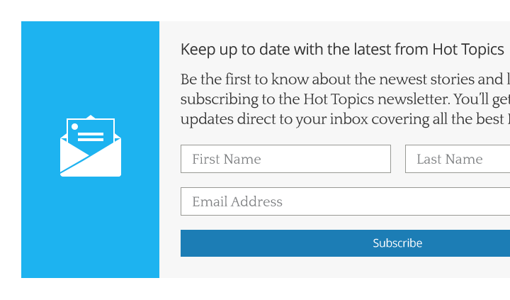 Subcribe to Hot Topics panel