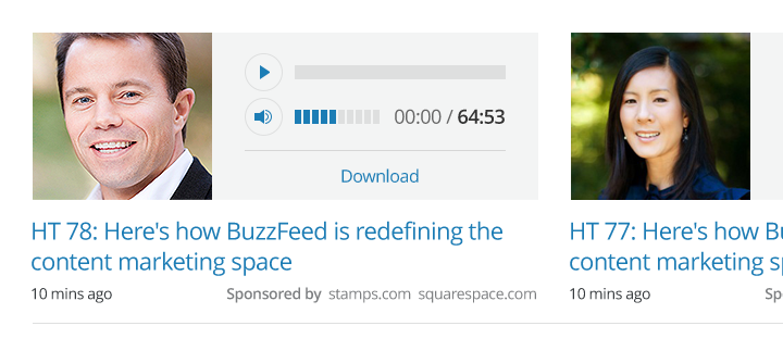 Podcast Landing page detail