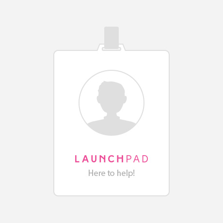 LaunchPad Recruits Here to help badge illustration
