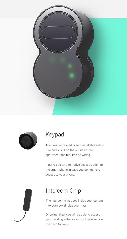 Smarke lock, keypad and intercom