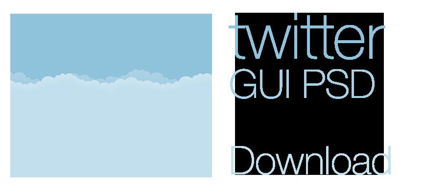 Free twitter GUI PSD 2014