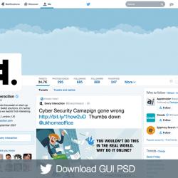 Twitter profile GUI PSD