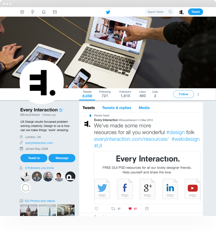 all about twitter profile gui psdsketch template every interaction