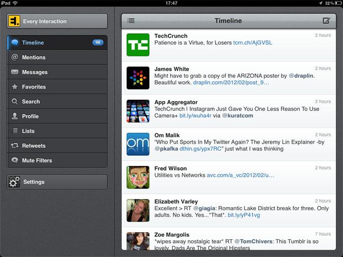 Tweetbot iPad app UI