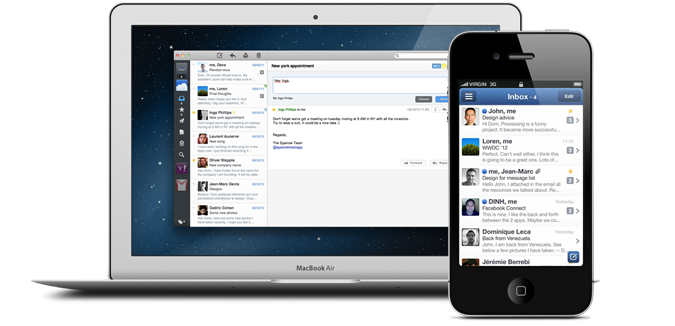 Sparrow iPhone and Desktop app