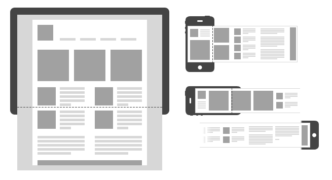 Horizontally responsive mobile example