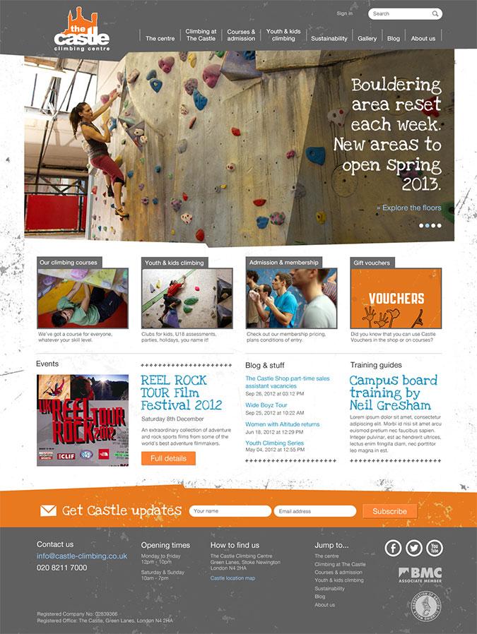 Castle climbing centre bouldering