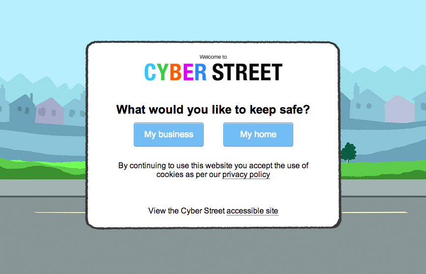 Cyber Streetwise website entry