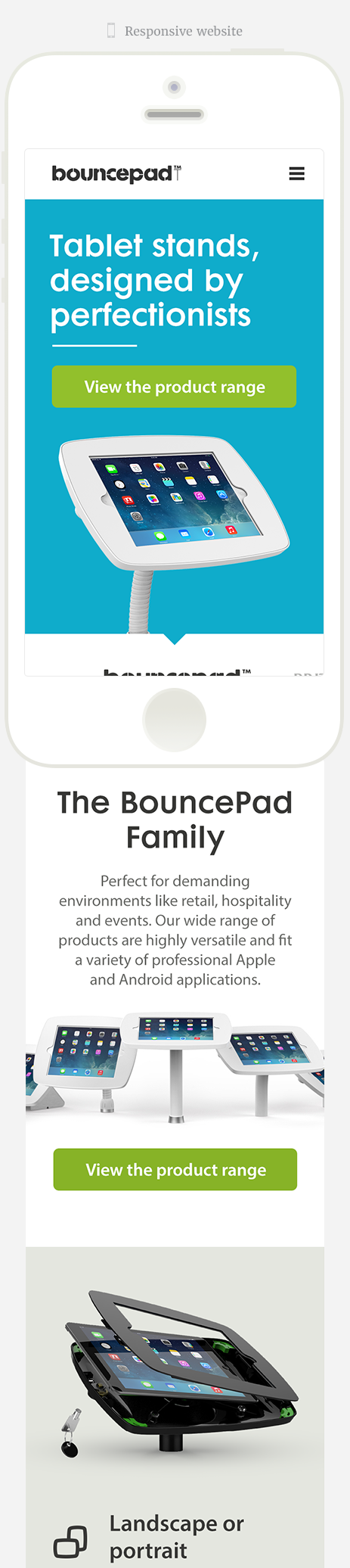 Bouncepad responsive website