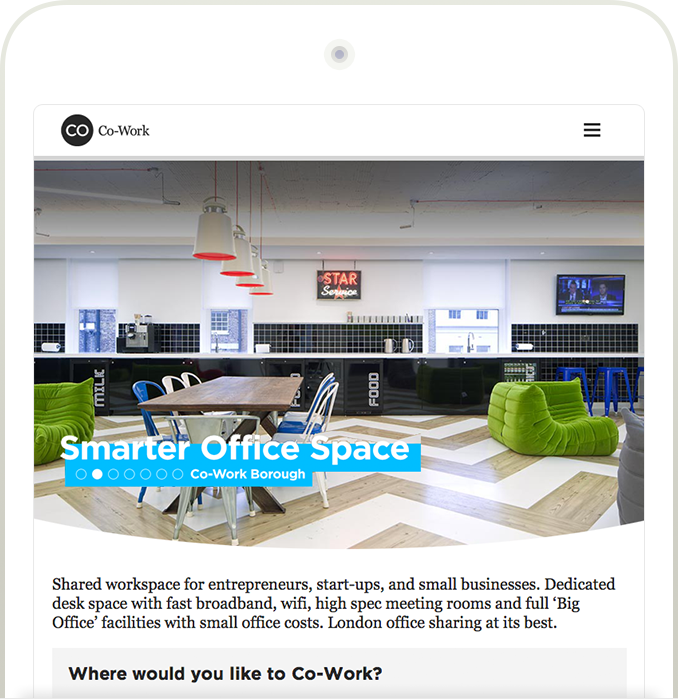 Co-Work responsive website