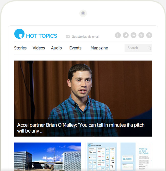 Hot Topics responsive website: iPad