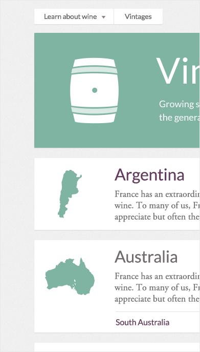 Website vintage detail