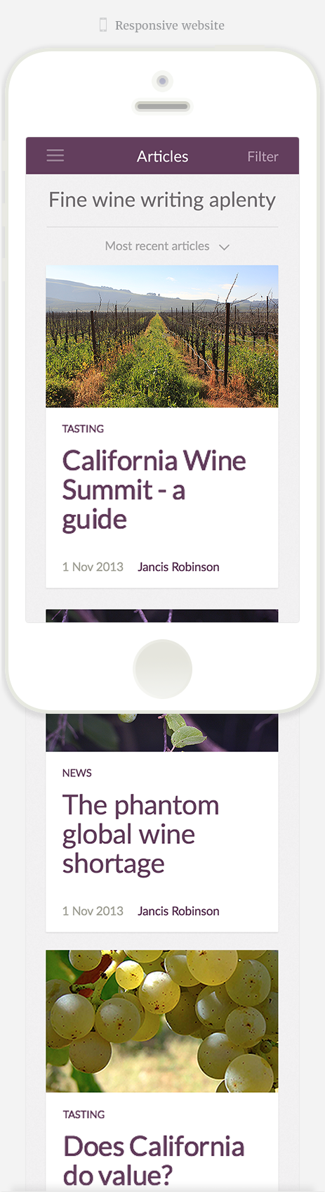Jancis Robinson responsive website 1