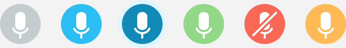 Kakapo Microphone Icons