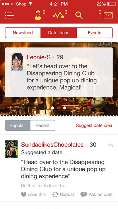 Lovestruck iOS date-ideas