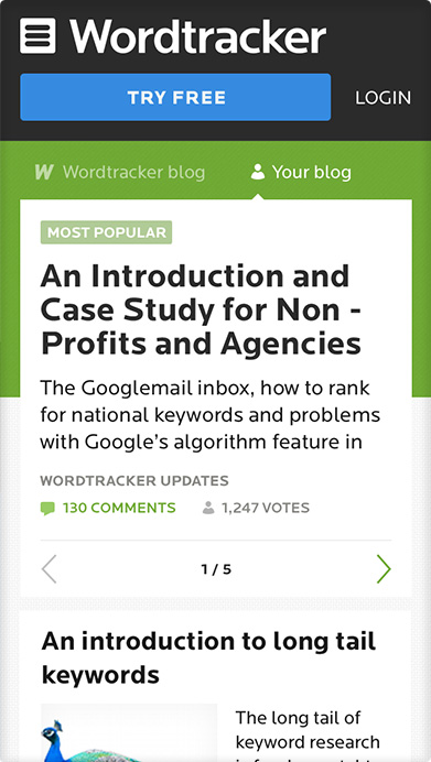 Wordtracker blog
