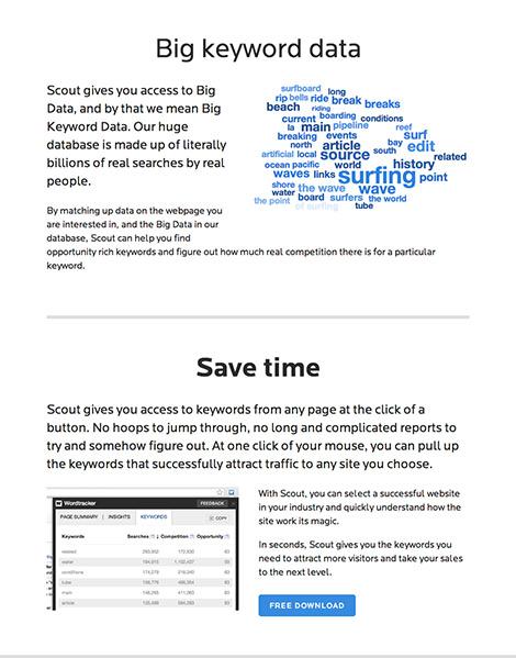 Wordtracker Scout - big keyword data