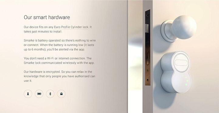 Smarke door lock in situ design panel