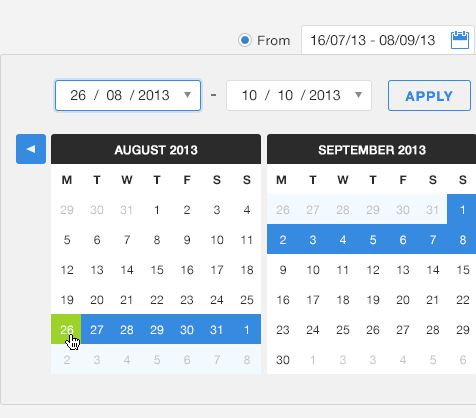 Wordtracker research tool date range selector