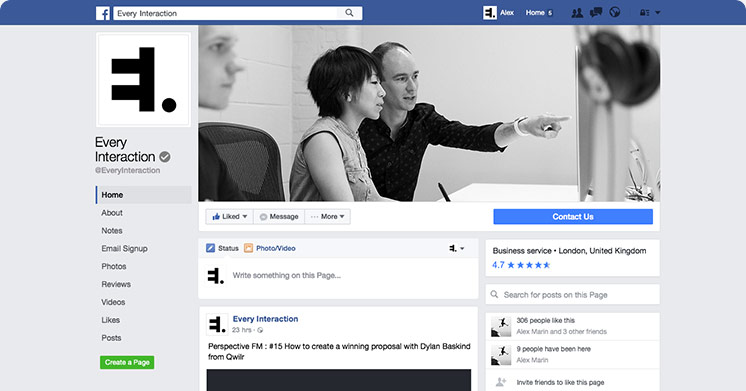 facebook page gui psd sketch template every interaction