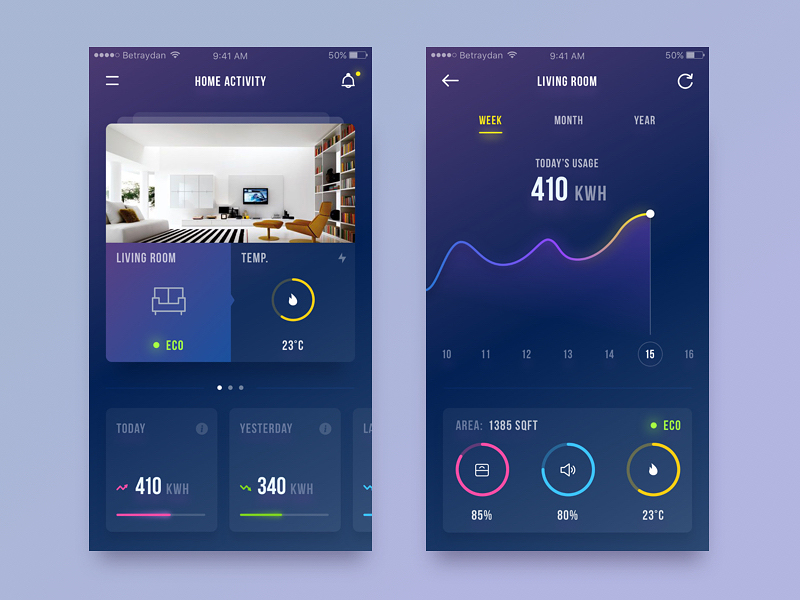 example of flatter UI style